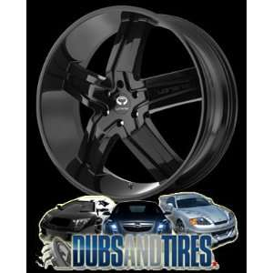 26 Inch 26x9.5 LORENZO wheels WL30 Gloss Black wheels rims
