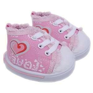 Pink Love Heart Shoe Teddy Bear Clothes Fit 14   18 Build a bear