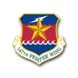 US Air Force 147th Fighter Wing Decal Sticker 3.8 6 Pack