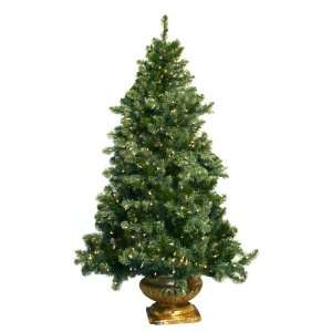 Good Tidings TWE95642 6 Feet Half Tree Artificial Prelit