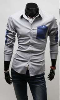 MENS CASUAL LONG SLEEVE SHIRT SLIM FIT 2075