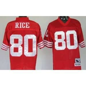 Jerry Rice #80 San Francisco 49ers Replica Throwback NFL Jersey Red