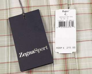 215 ERMENEGILDO ZEGNA Sport Mens Cotton Shirt L Checks