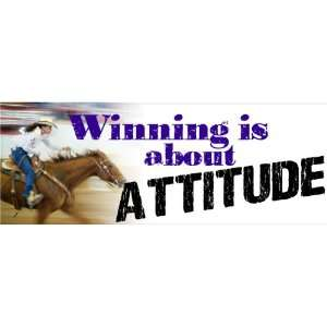 is about attitude barrel racing bumper sticker 7x21/2 Automotive