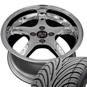 Cobra R 4 Lug Deep Dish Style Wheels and Tires Fits Mustang (R