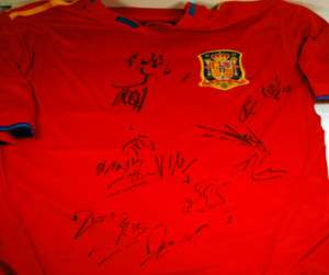 2010 SPAIN WORLD CUP TEAM SIGNED AUTOGRAPH JERSEY COA RARE