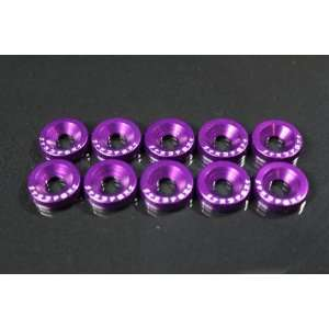Fender Washers   10pc Purple   Acura CL Integra Legend NSX RL RSX TSX