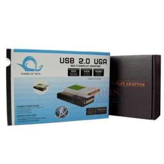 USB 2.0 UGA to DVI HDMI VGA Multi Display Adapter