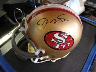 San Francisco 49ers Joe Montana signed mini helmet UDA Upper Deck