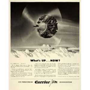 1943 Ad Carrier Air Conditioning Refrigeration Household