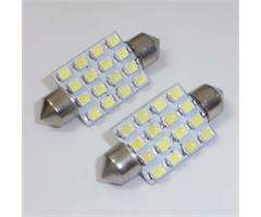 SMD 1206 3020 Super White Festoon Dome Car Bulb Lamp LED Light