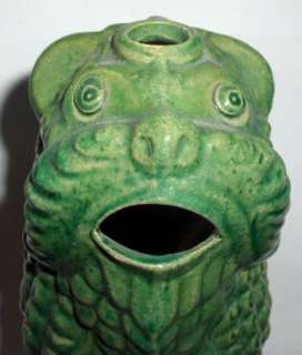 ANTIQUE MONSTER SHAPED POTTERY CERAMIC ART PITCHER JUG