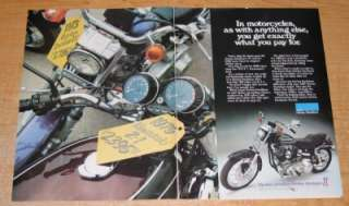 1976 Harley Davidson FXE 1200 Super Glide Original Color Ad
