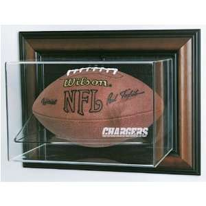 San Diego Chargers NFL Case Up Football Display Case (Horizontal
