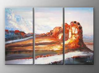 A31   60 FRAMED ABSTRACT MODERN Landscape ART OIL PAINTING