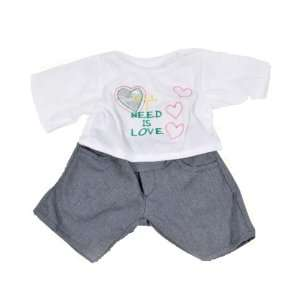 All I Need is Love Teddy Bear Clothes Outfit Fit 14   18 Build a