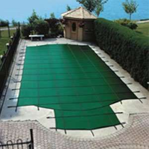 Solid Safety Pool Cover  Pool Size 20 in x 40 in Green