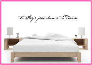 To Sleep Perchance To Dream Vinyl Wall Art Quote Decal 24 Colors