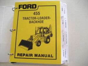 Ford 455 Tractor Loader Backhoe Service Manual