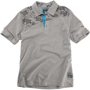 Fox Racing Stenciled Polo   Large/Grey Automotive