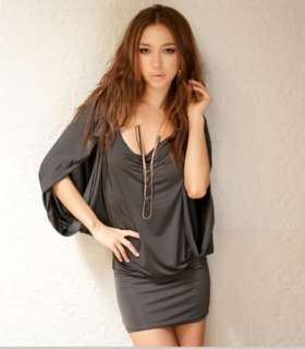 New fashion sexy open Shoulder Ball Cocktail Clubwear party Mini Dress