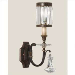 Eaton Place One Light Wall Sconce in Rustic Iron