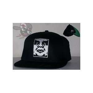 Obey Giant Black Snapback Hat Cap