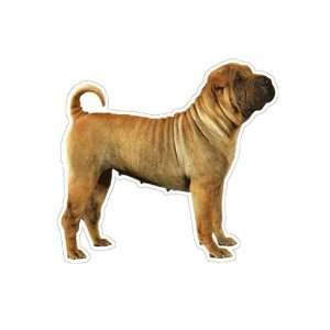 SHAR PEI   Dog Decal   sticker dogs car got window