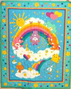 Care Bears Clouds and Rainbow Quilted Baby Blanket