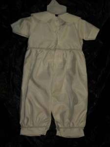 Baby Boys Ivory Christening Baptism Suit/X SMALL/ Size 0 3 MONTHS