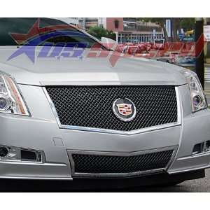 2008 2011 Cadillac CTS Black Ice Heavy E Mesh Grille 2PC