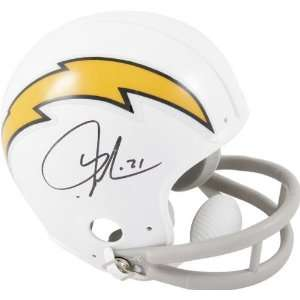 LaDainian Tomlinson San Diego Chargers Autographed White Riddell Mini