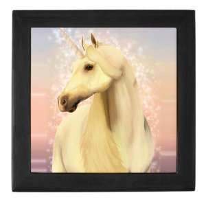 Keepsake Box Black Real Unicorn Magic