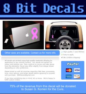 BREAST CANCER SUPPORT FOR THE CURE RIBBON MACBOOK CAR TABLET VINYL