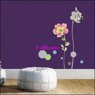 Flower art Wall Stickers DIY Mural Deco Décor Decal,J65