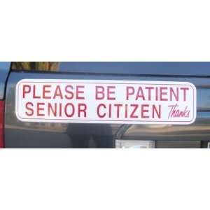 Senior Citizen Driver Magnetic Sign Automotive