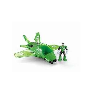 Super Friends Hero World Action Figure Vehicle Green Lantern Jet Toys
