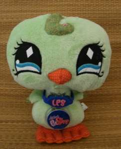 New Littlest Pet Shop Green Parrot Bird Plush LPS Code