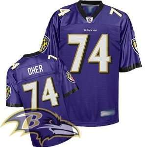 Baltimore Ravens #74 Michael Oher Purple Nfl Football