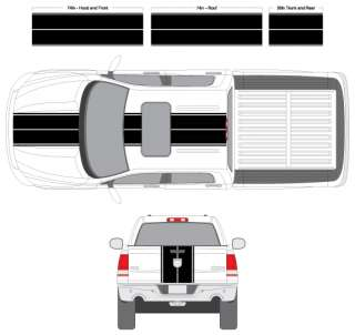 Ram Dakota Silverado Escape Rally Racing Stripes Decals