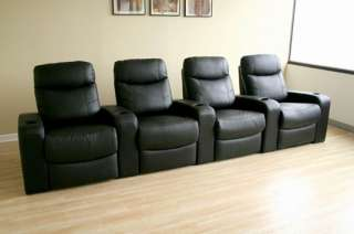 Cannes Home Theater Seats (4) Black   8326 Black (4)
