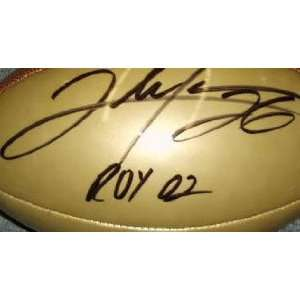 Clinton Portis Autographed Wilson Football with ROY02