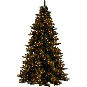 PRE LIT DELUXE LAYERED SPRUCE CHRISTMAS TREE   7.5 TALL