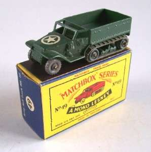 MATCHBOX MOKO LESNEY 49 ARMY HALF TRACK CARRIER, RARE