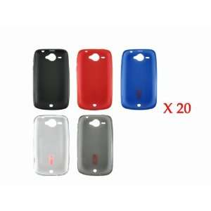 Wholesale 100x Soft TPU Gel Case Cover for HTC Wildfire