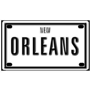 New Orleans 2 1/4 X 4 Aluminum Die cut Sign Arts, Crafts & Sewing