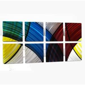 Stained Glass Modern Abstract Metal Wall Art Painting Sculpture