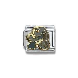 English Setter Dog Breed Canine Collection Italian Charm 18k Gold by