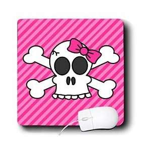 Janna Salak Designs Gothic   Cute Pink Goth Punk Skull and