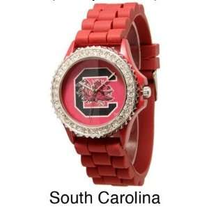 Collegiate Watch, South Carolina, Gamecocks, Red, Bling Bling